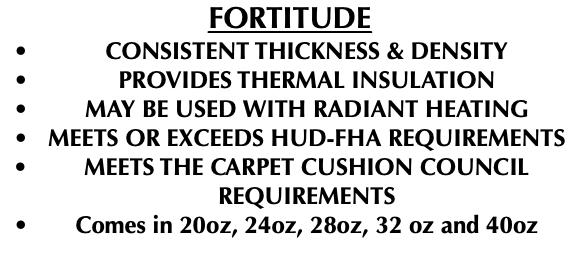 American Fiber Cushion Carpet Cushion
